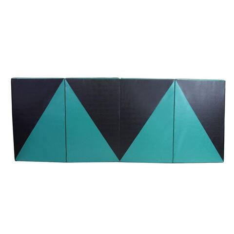 Zenova Gymnastics Mat 4'x8' Thick Large Folding Tumbling Gym Panel Crash Mats with Handles Women Home Gym Fitness