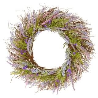 Lavender Artificial Wreath - 24-Inch - N/A