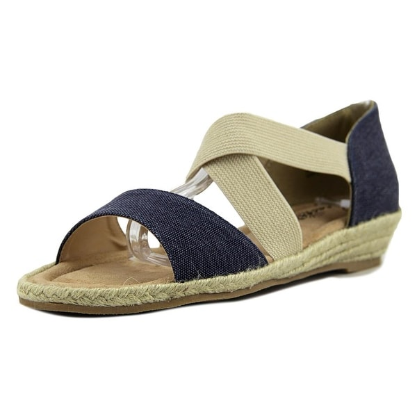 Beacon Lydia Women Open Toe Synthetic Blue Wedge Sandal