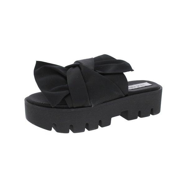 Steve Madden Womens Swirl Platform Sandals Open Toe Criss-Cross