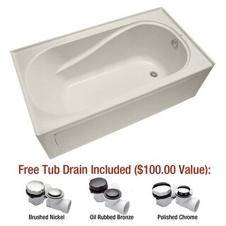 "Mirabelle MIRPRS6032R Provincetown 60"" X 32"" Three-Wall Alcove Soaking Tub with"