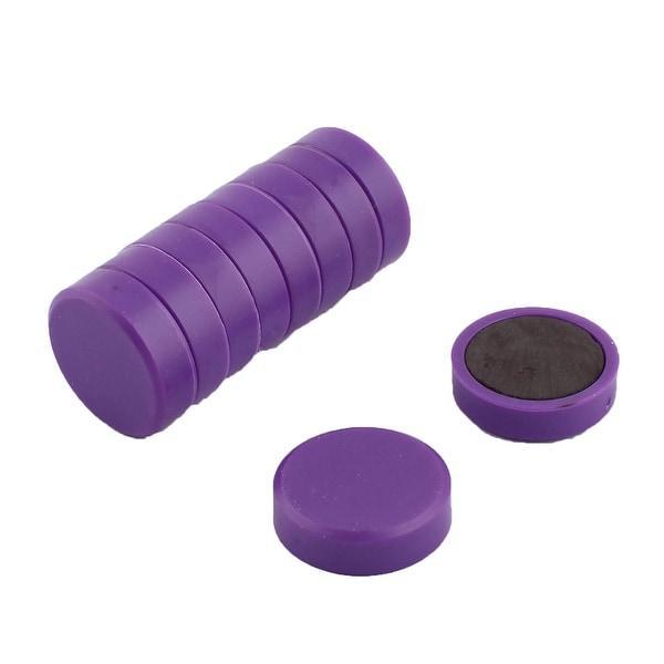 Family Plastic Blackboard Whiteboard Fridge Magnetic Sticker Purple 10pcs
