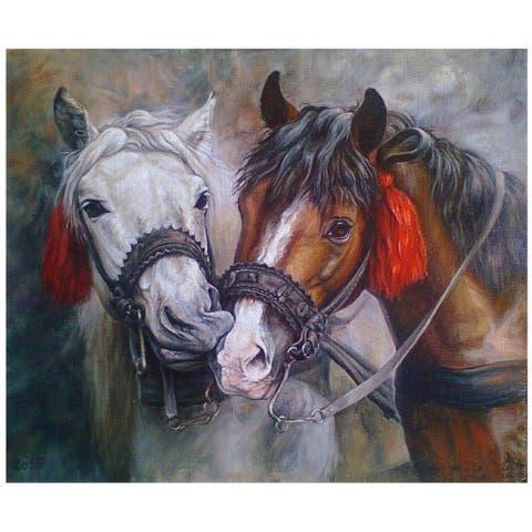 Beautiful Horses Paint by Number Kit for Kids & Adults