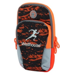 Wellhouse Authorized Double Pockets Phone Holder Running Sports Arm Bag Orange L