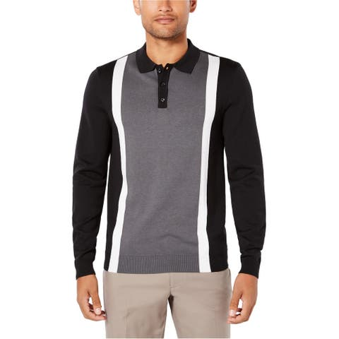 Ryan Seacrest Mens Colorblock Rugby Polo Shirt