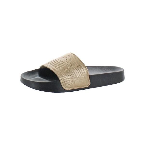 60dbee02ea3a10 Shop Puma Womens Leadcat Leather Slide Sandals Pool Lounge - Free ...