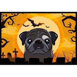 Carolines Treasures BB1821JMAT Halloween Black Pug Indoor & Outdoor Mat 24 x 36 in.