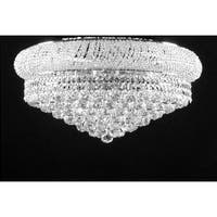 Swarovski Elements Crystal Trimmed Chandelier Lighting Flush Empire
