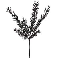 "21"" Sparkling Black Rosemary Glitter Floral Crafting Christmas Spray"