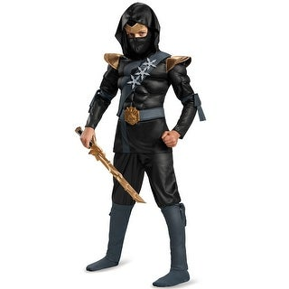 Disguise Black Ninja Classic Muscle Child Costume
