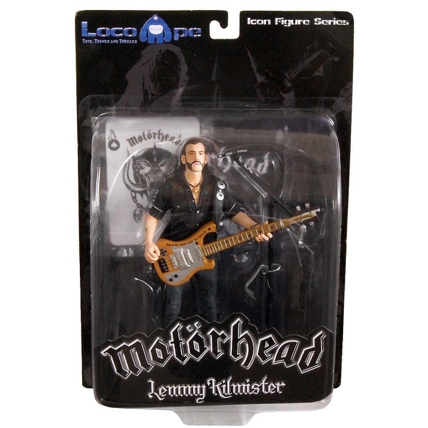 "Motorhead Lemmy Kilmister 7"" Icon Figure Rickenbacker Guitar Cross - multi"