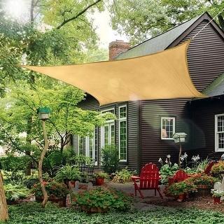 Link to 10x13 Ft  Rectangle Sun Shade Sail UV Block Canopy for Patio Backyard Similar Items in Patio Umbrellas & Shades