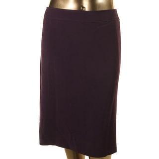 Tahari ASL Womens Plus Straight Skirt Knee-Length Lined