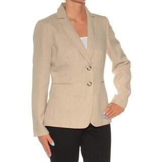 Womens Beige Wear To Work Suit Jacket Size 2