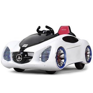 Costway 12V Kids Ride On Car Battery Powered RC Remote Control w/ MP3 & Lights White