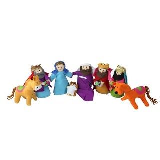 "8-Piece Bohemian Multicolor Plush Christmas Nativity Set 5.5""-1"" - multi"