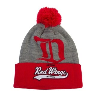 Mitchell & Ness Detroit Red Wings Heather Tailsweep Cuffed Beanie (100% Acrylic)