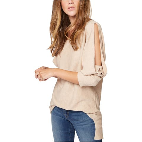 Sanctuary Clothing Womens Gillian Cold-Shoulder Knit Sweater