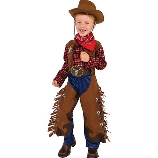 Shop Toddler Little Wrangler Cowboy Halloween Costume - Free Shipping On Orders Over $45 - Overstock.com - 16300186  sc 1 st  Overstock.com & Shop Toddler Little Wrangler Cowboy Halloween Costume - Free ...