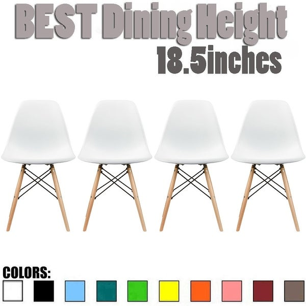 2xhome Set of 4 Modern Plastic Side Armless Kitchen Dining Chairs Light Wood Natural Desk Patio Home Office. Opens flyout.