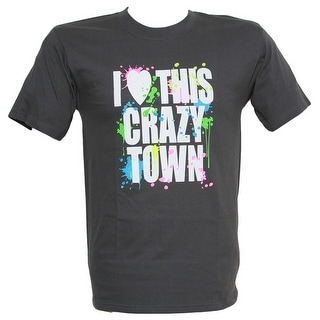 I Heart This Crazy Town Graphic T Shirt - Charcoal