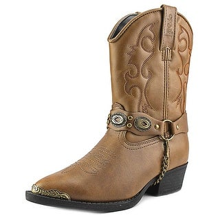 Laredo LC2210 Youth Round Toe Leather Brown Western Boot