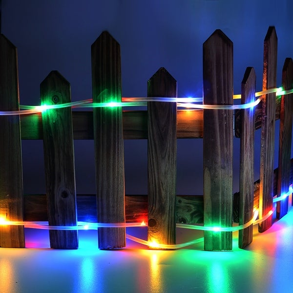 Solar Rope Lights 200LED,8 Model 2400mah High Capacity Battery Lights Waterproof RGB Multi-color