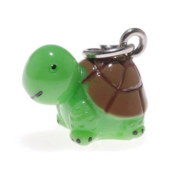Hand-Painted 3D Adorable Turtle Charm Lightweight 16mm (1)