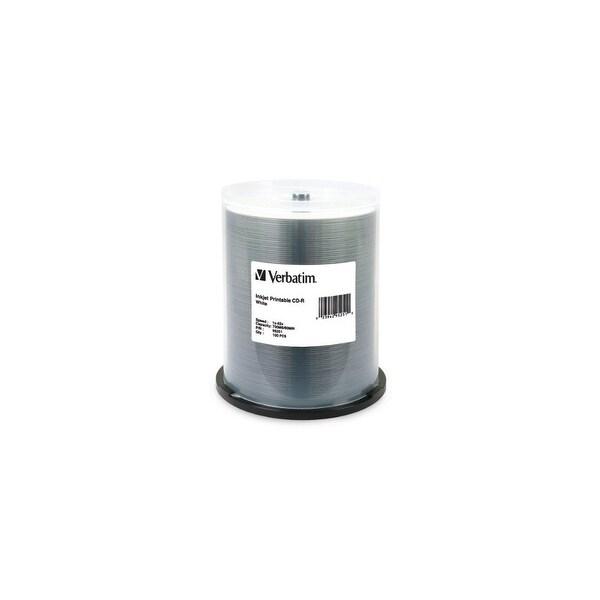 Verbatim DM4838w Verbatim 700 MB 52x 80 Minute White Inkjet Printable Recordable Disc CD-R 100-Disc Spindle 95251