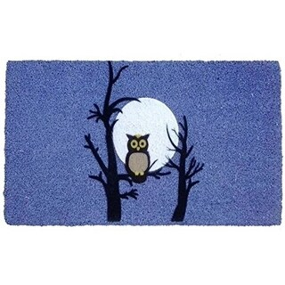 Imports Decor 555PVCF Night Owl Door Mat