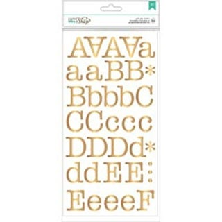 "1.25"" Typewriter/Gold - DIY Shop 2 Alpha Stickers 5/Sheets"