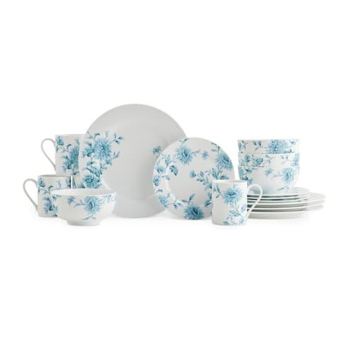 Spode Home Vintage Denim 16-piece Set - Blue/White