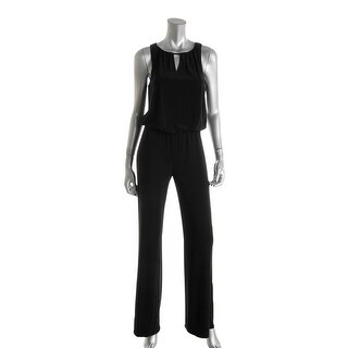 Laundry by Shelli Segal Womens Jumpsuit Lace Back Keyhole