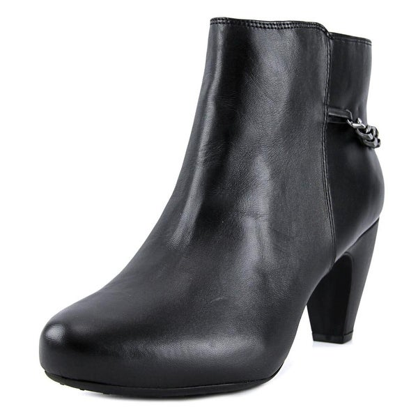 Easy Spirit Parilynn Women W Round Toe Leather Ankle Boot