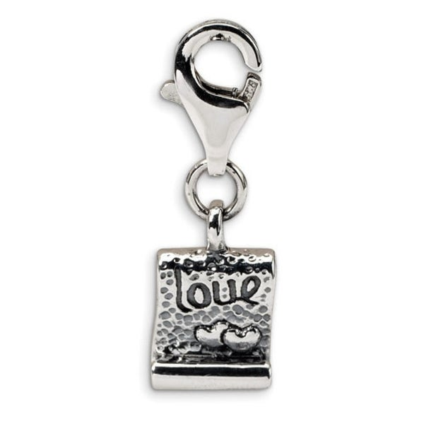 Sterling Silver Reflections Love Note Clip-on Bead (4mm Diameter Hole)