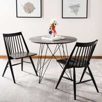 2 Safavieh Dining 19-inch Wren Black Spindle Dining Chair Deals