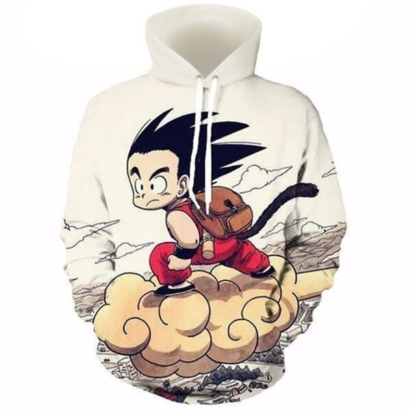 1068c023364b Dragon Ball 3D Anime Hoodies Men Kid Goku 3D Print Hat Sweatshirts  Pullovers Long Sleeve Tops