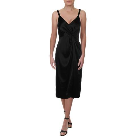 JILL Jill Stuart Womens Slip Dress Satin Twist-Front