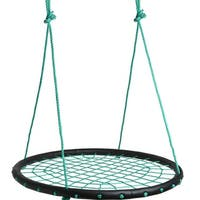 "Image 40"" Children's Tire Spider Web Swing Riderz Net Tree Swings Detachable Playground Platform"