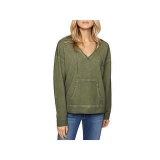 Sanctuary Womens Shiloh Sweatshirt Faded V Neck - M