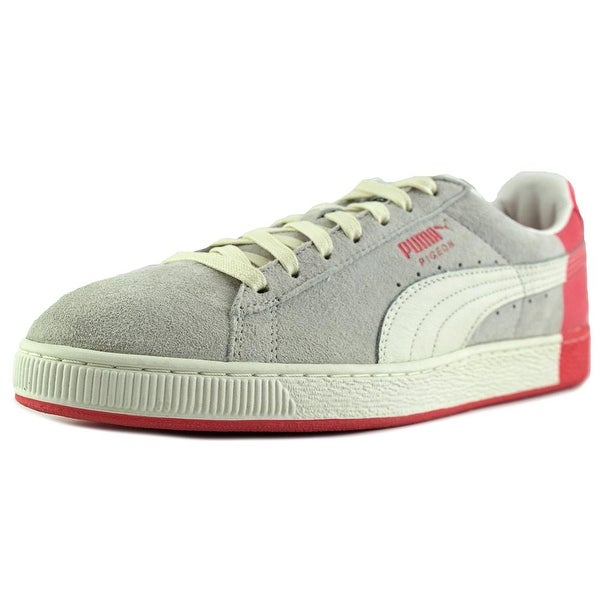 Puma Suede x Staple Men Round Toe Suede White Sneakers