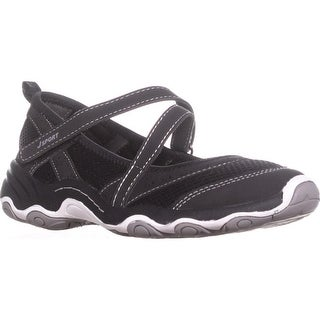 JSport by Jambu Avalon Mary Jane Sneakers, Black/Grey - 6.5 us / 36.5 eu