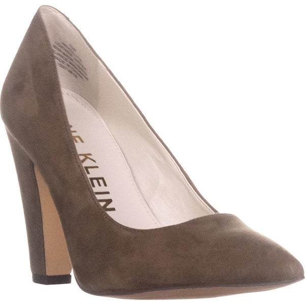 Anne Klein Hollyn Pointed Toe Heels, Taupe Suede - 5.5 us