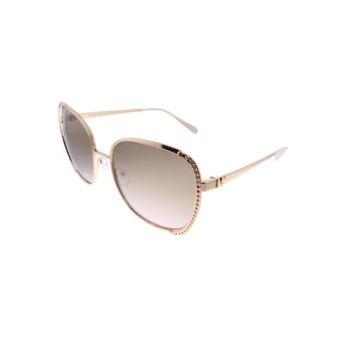 Michael Kors Amsterdam MK 1090 110811 Womens Rose Gold Frame Pink Gradient Lens Sunglasses