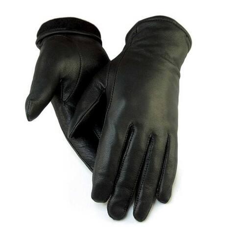 """Northstar Women's Black Full Deerskin Dress Glove Fleece Lined 3"""" Cuff 411B"""
