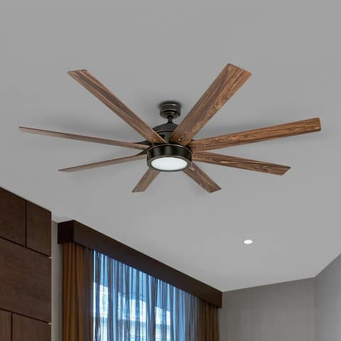 Honeywell Xerxes Oil-rubbed Bronze 62-inch LED 8-blade Ceiling Fan