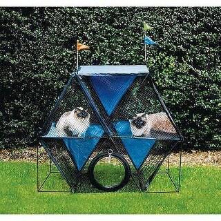 "Kittywalk Ferris Wheel Outdoor Cat Enclosure Green 44"" x 24"" x 40"""