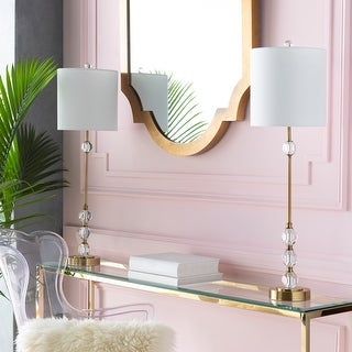 """Link to Epps Crystal 34-inch Buffet Table Lamp (Set of Two) - 10"""" x 10"""" x 34"""" Similar Items in Table Lamps"""