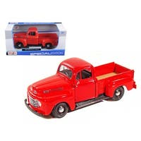 1948 Ford F-1 Pickup Red 1/25 Diecast Model Car by Maisto