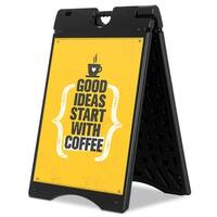 """Costway Portable Folding A-Frame Sidewalk Signboard Double Sided 22""""x28"""" Display Outdoor - Black"""
